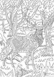 Deer In The Forest Printable Coloring Page