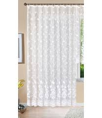 gardine store langstore jacquard koblenz hxb 245x450 cm kräuselband universalband weiß blumenmuster transparent voile vorhang wohnzimmer