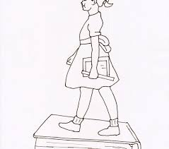 Ruby Bridges Coloring Pictures Ru Goes To School Page Free Download