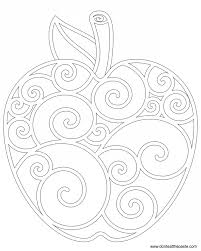 Crafternoon Apple Coloring Page From Dont Eat The Paste Apples Colorful Lizard To Color Plants