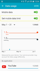 How to check your monthly data usage on Android Samsung Galaxy S6