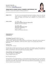 Sample Resume For Hemodialysis Nurse Plus Of C Page 1 6 To Frame Perfect 476