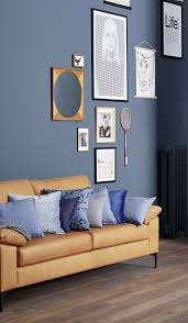 blaue wand wandfarbe blueberry schöner wohnen kollektion