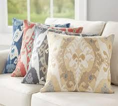 sarina ikat print pillow cover in gray potterybarn reno pillows