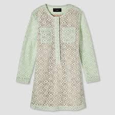 girls u0027 mint green long sleeve lace dress xl victoria beckham for