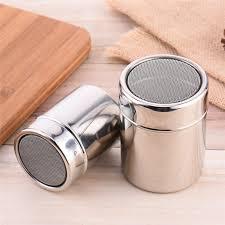 Stainless Steel Dredger Ground Coffee Sugar Container Powder
