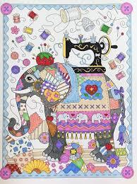 Amazon The Art Of Marjorie Sarnat Elegant Elephants Adult Coloring Book