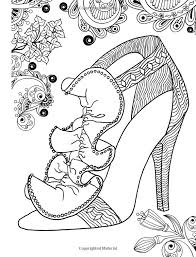 AmazonSmile ZenThoughts Coloring Book Stress Melting Shoe Designs Volume 3 9781514722985