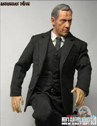 1 6 Scale Mens Clothes Series 2B Men Suit Set In Black Saturday