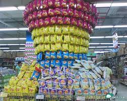 An Impressive Lays Potato Chip Supermarket Display In China