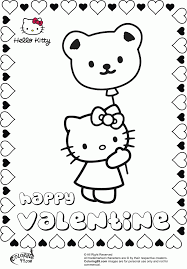 Hello Kitty Balloons Coloring Pages