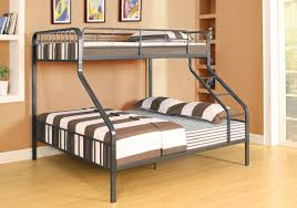 Pipe Like Black Silver XL Full over Queen Metal Bunk Bed
