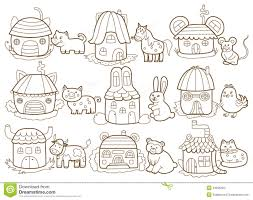 Coloring Pages Animals And Their Homes Houses Stock Photos Image