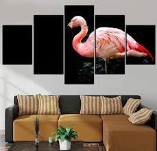37tdfc 5 leinwandbilder 5 teiliges tier flamingo