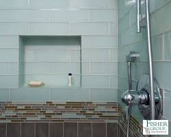 bathroom glass tile accent ideas peenmedia