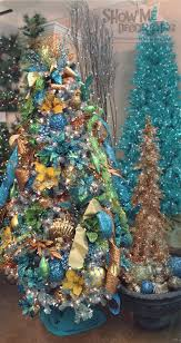 Beach Green Yellow Turquoise Christmas Tree Decorations Z