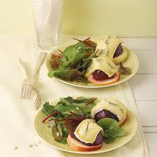 überbackene rote bete mit salat