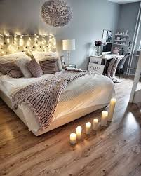 schlafzimmer mit kerzen und lichterkette schlafzimmer