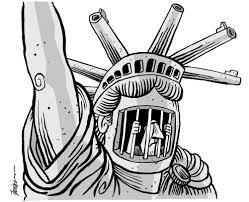 Cartoon 3 Trapped In Gun Loving Society Manny Francisco Philippines 2012