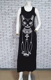 long dress women casual cat boho long maxi beach dress evening 133761