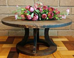 Wedding Cake Stand Reclaimed Wood Round Rustic Country