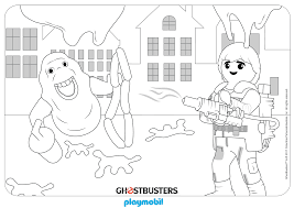 Coloring Sheet PLAYMOBIL Ghostbusters Team