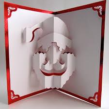 carte pop up noël à fabriquer et décorer soi même kirigami
