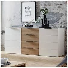 wohnzimmer sideboard madeira 36 in weiß supermatt mit eiche artisan nb