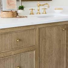Houzz Bathroom Vanity Knobs by Reeded Cabinets Inset Drawers And Doors Bathroom Vanity Detail