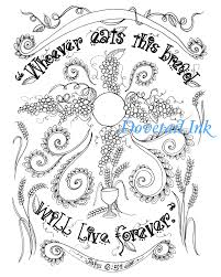 Hail Mary Coloring Page Printable Catholic Prayer For Free Download