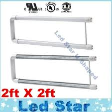 shop ul dlc u shape t8 led 22w 2ft x2 led fluorescent