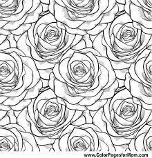Beautiful Black And White Seamless Pattern In Roses With Contours Hand Drawn Contour Lines Strokes Perfect For Background Greeting Cards Invitations