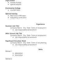 How To Make A Resume Example For Job Sample High School Student Format Applying College