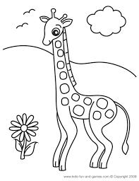 Zoo Animal Coloring Pages Gif Giraffe