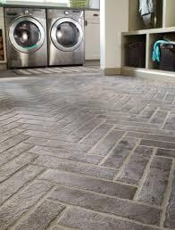 capella taupe brick contemporary laundry room orange county