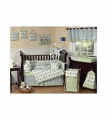 sweet jojo designs argyle green blue 9 piece crib bedding set