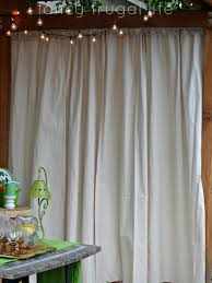 Outdoor Patio Curtains Canada by Cabana U201d Patio Makeover With Diy Drop Cloth Curtains