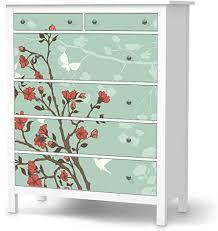 creatisto möbeltattoo passend für ikea hemnes kommode 6 schubladen i möbeldekoration möbel aufkleber folie i deko diy für schlafzimmer