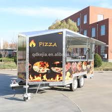 100 Mobile Pizza Truck Food Trailer Carts Fiber Glass Food Cart For Sale