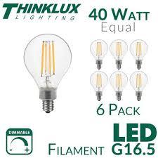 thinklux filament led g16 5 2 inch globe edison style light bulb