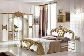 details zu schlafzimmer elisa weiss gold 160x200 klassik italien 4tlg komplett schlafzimmer