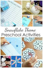 Snowflake Theme Preschool Activities