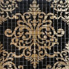shop gold glass mosaic tile puzzle backsplash glass
