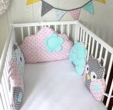 patron tour de lit bebe tour de lit bébé en 60cm large nuage et chats 5 coussins ton