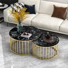 Amazon.com: Round Marble Coffee Table Set Heavy Duty Nesting ... Khloe Round Marble Coffee Table Vida Living Carra Ding In Bone White Oracle 130cm Grey 4 Parker Velvet Knocker Chairs Tulip Tableround Replica Dia1200 Buy 6 Seater Black Set With Marion I Contemporary And Side Chair By Fniture Of America At Del Sol Vesper 51 Tables That Save On Space But Never Skimp For Awesome 1 5m Really Like This Table Chair Combo Probably Don Crema With Freya Selecting Royals Courage