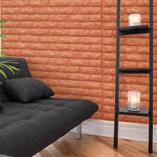 A06505 Brick Peel Stick Wallpaper Foam Block 3d Design 10 Sheets 484 SqFt