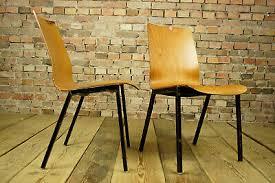 60er vintage esszimmer stuhl industriedesign holz