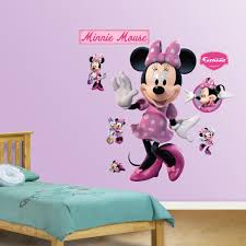 Mickey Mouse Bathroom Wall Decor by Mickey Mouse U0026 Friends Minnie Mouse Wall Decals By Fathead