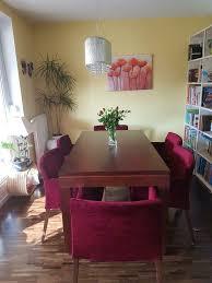 esszimmermöbel vitrine sideboard 6 stühle ausziehbarer tisc