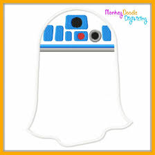 R2d2 Pumpkin Template by R2d2 Ghost Droid 4x4 5x7 6x10 Embroidery Machine Applique